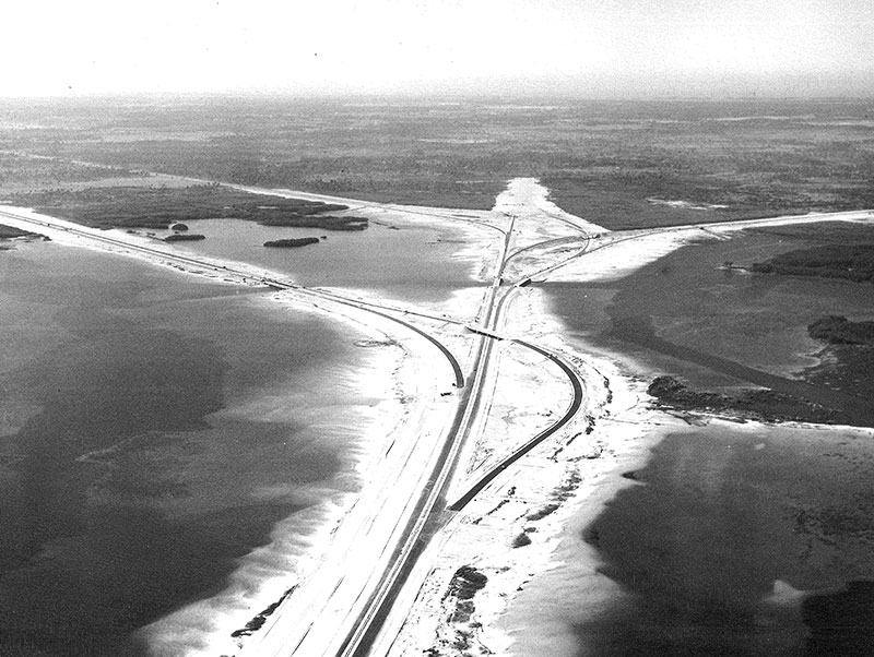 West side approach to Howard Franklin 1958